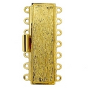 Claspgarten Gold textured clasp with 7 rows 14152 - 38x11mm
