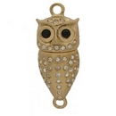 Claspgarten Gold magnetic owl clasp with 1 row 14739 - 35x17mm