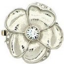 Claspgarten Large Silver Flower clasp with 3 rows 14154 - 31mm