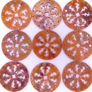 27mm Round Laser Cut Cabochon in Amber