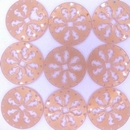 27mm Round Laser Cut Cabochon in Angel Silk