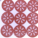 27mm Round Laser Cut Cabochon in Dark Coral