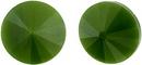 12mm Matubo Rivoli in Green Pearl