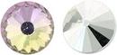 12mm Matubo Rivoli in Crystal Vitrail Light