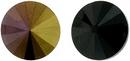 12mm Matubo Rivoli in Black Brown Flare