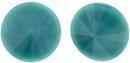 12mm Matubo Rivoli in Dark Turquoise