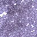 25 x 6mm Czech Tiles in Matt Tanzanite