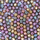 50 x 6mm faceted beads in Purple Iris Gold