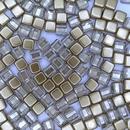 20 x 6mm Czech tiles in Crystal/Bronze Gold