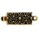 Claspgarten Old Gold clasp with 1 row 13495 - 13x6mm - Without packaging