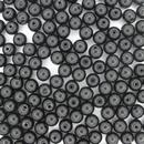 50 x 5mm round Black beads