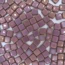 25 x 6mm Czech tiles in Lila Vega Lustre