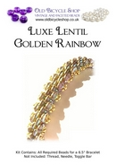 Bead Kit for Luxe Lentil in Golden Rainbow