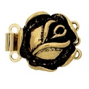 Claspgarten Old Gold clasp with 3 rows 13426 - 14mm