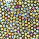 50 x 6mm faceted beads in Metallic Mix