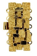 Claspgarten Gold clasp with 5 rows 13578 - 28x13mm