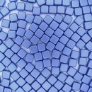 20 x 6mm Czech Tiles in Powder Blue