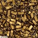 5g Half Tila beads in Metallic Dark Bronze (HTL457)