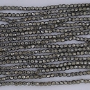 300 x 2mm faceted beads in Full Chrome - 10% discount