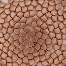 25 x Ginkgo beads in Matt Metallic Bronze Copper