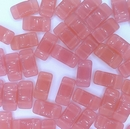 5 x Carrier Beads in Pink (9x17mm)