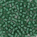 Size 6 Pale Rose Lined Jade Matsuno seed beads