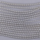 150 x 3mm glass pearls in Bright White