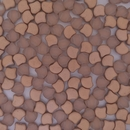 25 x Ginkgo beads in Matt Sesame Seed
