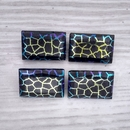 18x12mm rectangular cabochon in Black with Giraffe 2 design