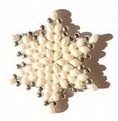 Pattern for Snowflake II pendant