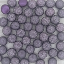 10 x 8mm candy beads in Pastel Bordeaux with laser etched circles