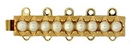 Claspgarten Gold clasp with 5 rows 13447 - 32x6mm