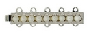 Claspgarten Silver clasp with 5 rows 13447 - 32x6mm