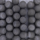 6 x 14mm round beads in Grey with laser etched Shells