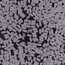 5g Half Tila beads in Matt Opaque White (HTL402F)