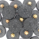 18mm Black glass button B4 (vintage)