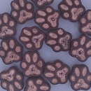13mm Pawprint in Dark Red/Copper