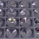 14mm Rivoli in Crystal with Laser Etched Spots pattern (Swarovski)