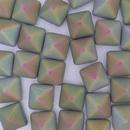 2 x 12mm Pyramids in Matt Chalk White Vitrail