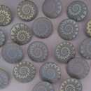 18mm glass buttons in Matt Grey with Laser Etched Shell