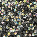 50 x 5mm faceted Black Vitrail beads