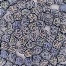15 x Ginkgo beads in Matt Black with Small Hexagon design