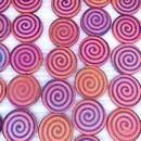 8 x 16mm discs in Matt Red with laser etched spiral