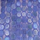 8 x table cut beads in Blue with laser etched shell (14x12mm)