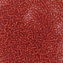 010 - 10g Size 11/0 Miyuki seed beads in Silver lined Flame Red