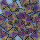 2 x 12mm pyramids in Black Sliperit