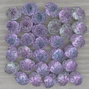 15 x 6x8mm oval Baroque Cabochons in Backlit Pink Mist