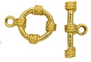 Claspgarten Gold Toggle clasp with 1 row 12863 - 15mm