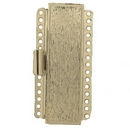 Claspgarten Silver textured clasp with 15 rows 14152 - 38x11mm