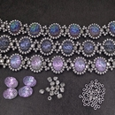 Selection of Silver beads for three Astral bracelets - reserved for Libby